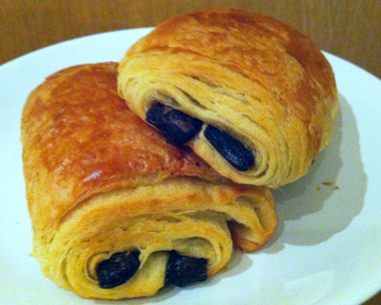 Our favorite breakfast pastry, the Pain au Chocolat also locally called a chocolatine.