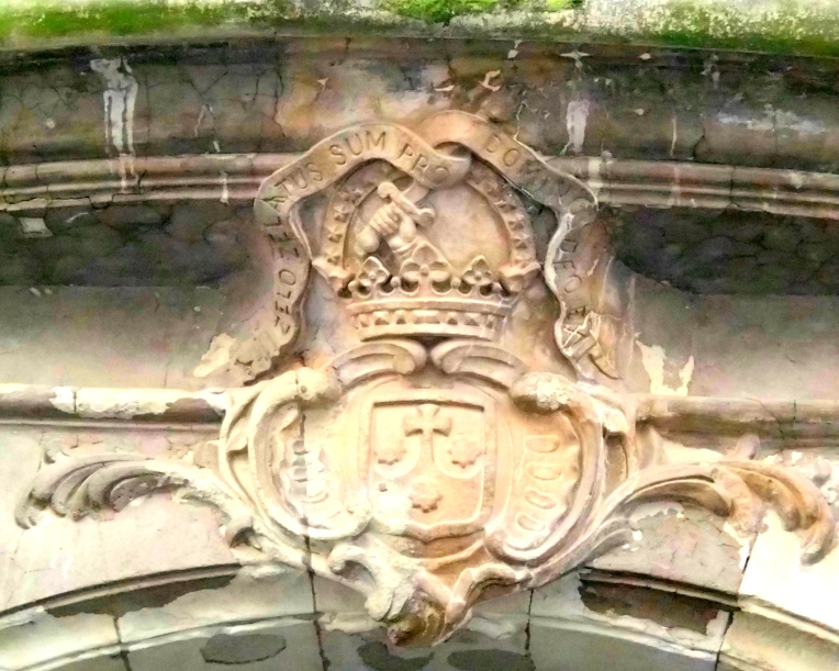 Ornamental lintel above the entrance to the offices of the Diocèse de Carcassonne et Narbonne (Roman Catholic Diocese of Carcassonne and Narbonne).  The Diocese was established in 533.