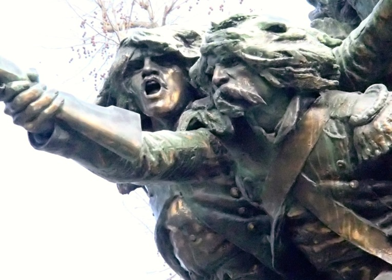 "Detail of René Phileas Carillon's ""In Square for the Fatherland,"" also called ""The Audois"" (1912), Memorial of the 1870 War at Place Davilla."