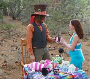 "Casey ""The Mad Hatter"" proposes to Megan ""Alice"""