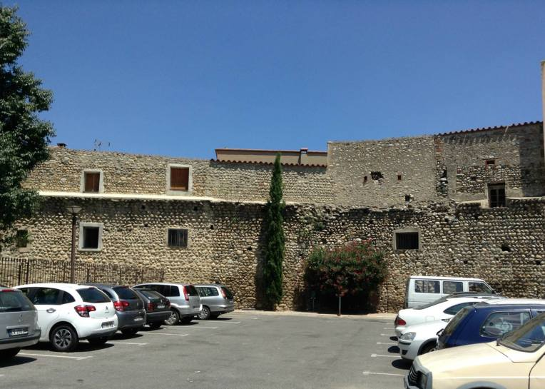Ramparts of the original city defense system which incorporated the East wall of the Hospice.