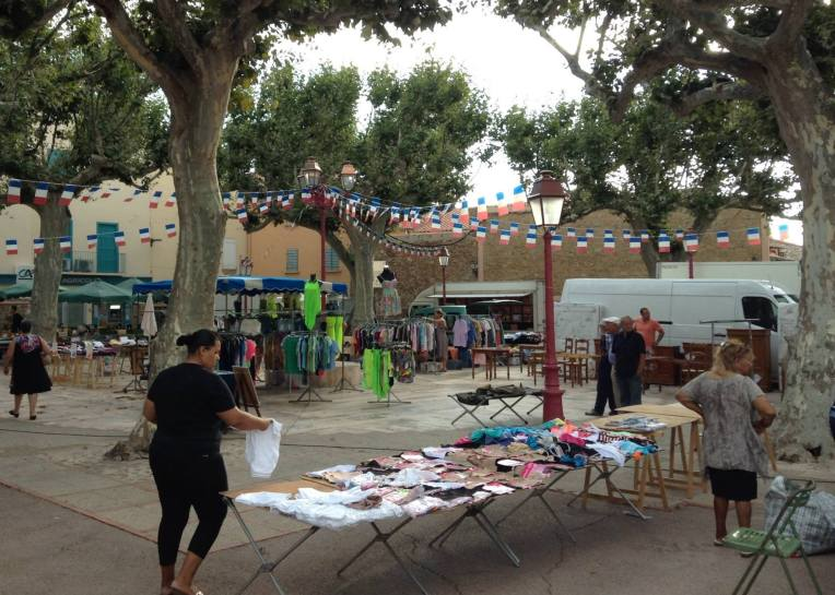 The Wednesday Market in Salses-les-Chateau.