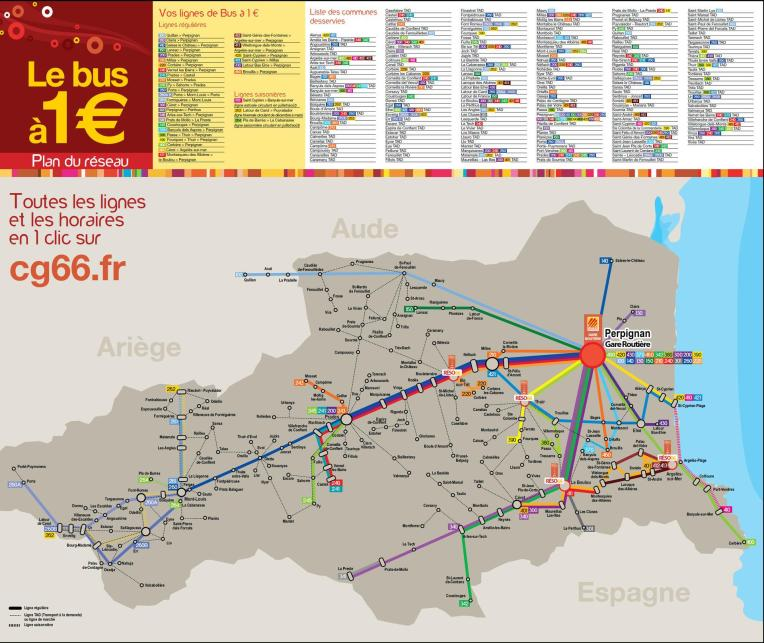1€ Bus Map