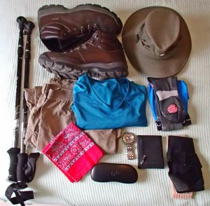 Alan's hiking gear