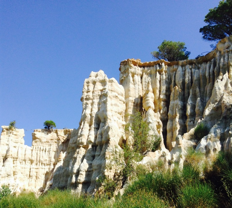 One of many beautiful, geologic formations at Les Orgues.