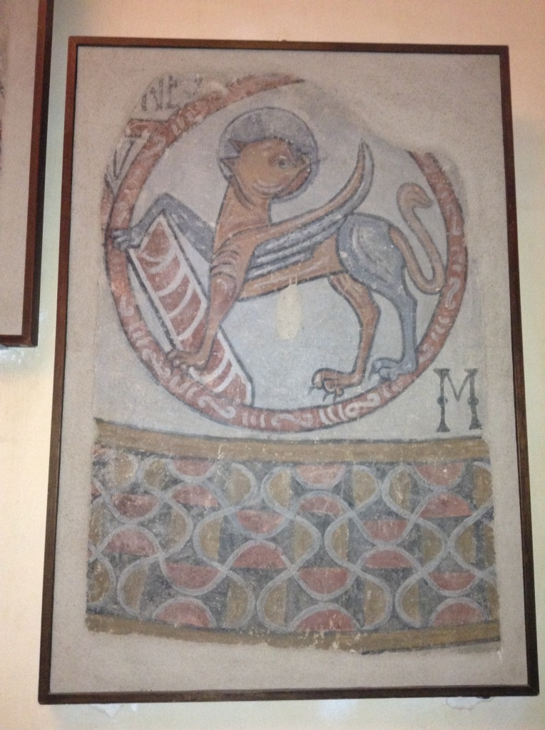 Romanesque fresco found during restoration.