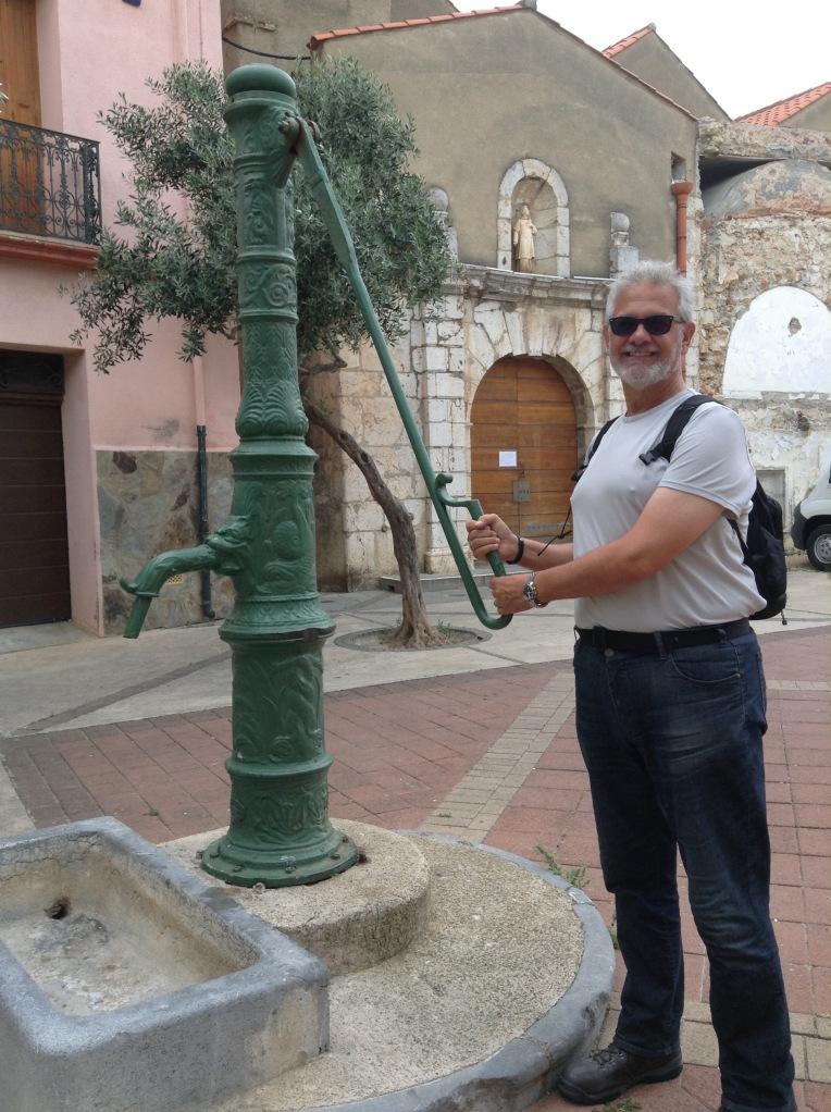 Alan at the green pump fountain.
