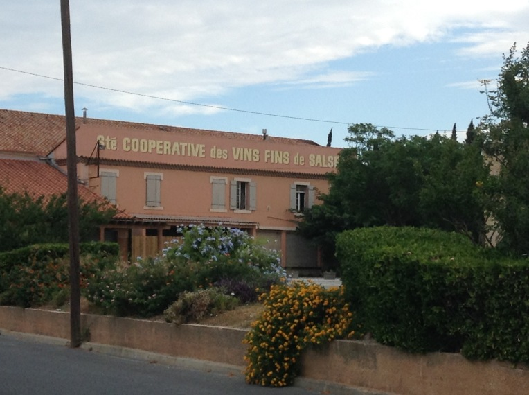 The wine coop in Salses-les-Chateau.