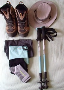 Tracy's hiking gear.