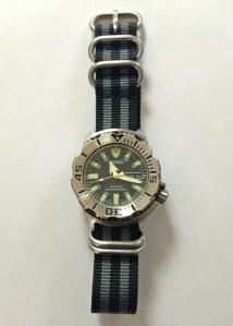"Seiko ""Black Monster"" Wristwatch"
