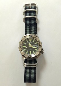 "Seiko ""Black Monster"" Wristwatch"