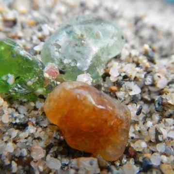 light green, jade, amber