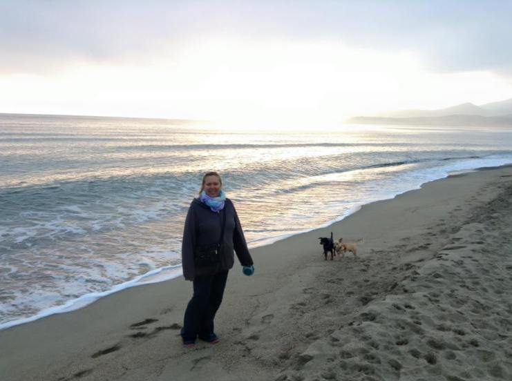Christmas morning walk on the beach