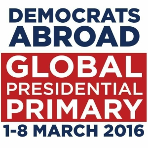 Global Presidential Primary logo (Democrats Abroad website)