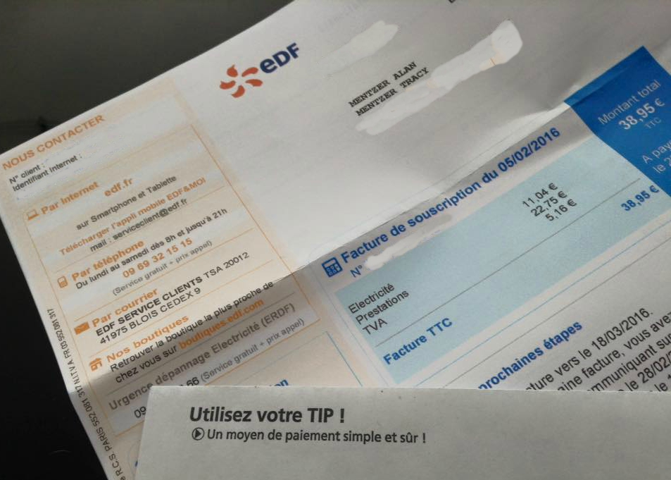 EDF Electric Bill