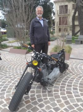 Alan with one of the Harleys