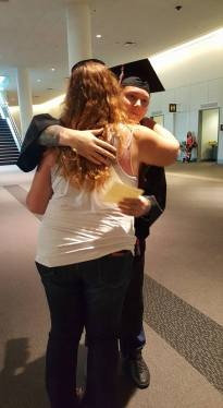 Last hug before the big event
