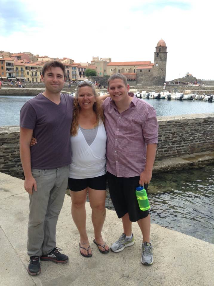 Alex, Tracy and Kyle in Collioure