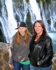 Dallas and Tracy, Burney Falls, 2007