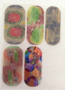 Nail wraps designed by the grandkids