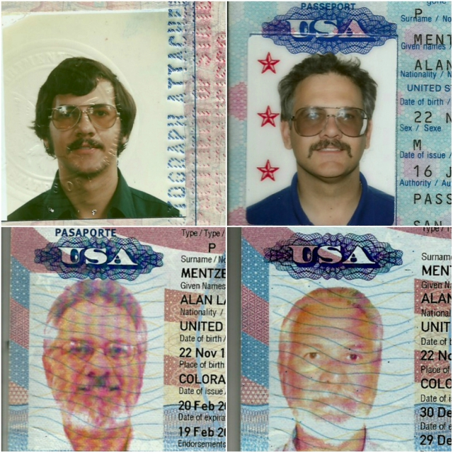 Some passport photo over about 40 years.