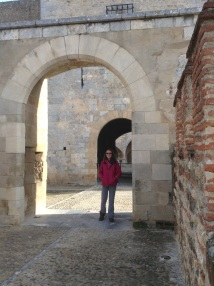 One of three entry arches