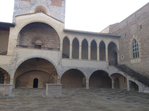 The courtyard and gallery and two church entries