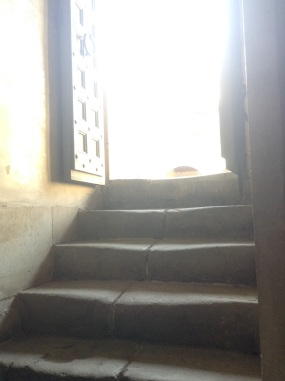 Worn steps leading into the Queen's Chapel
