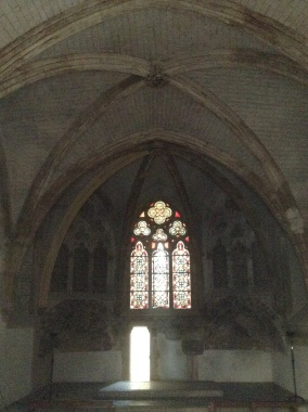 Stained glass of the Queen's Chapel