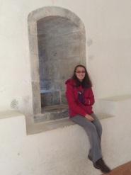 Etta in the sacristy of the Queen's Chapel