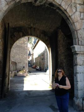 Tracy at the Porte du France gate