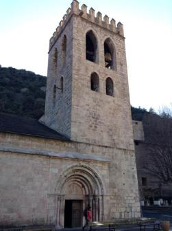 Church built in the Catalan Romanesque style