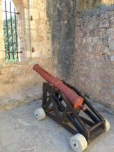 One of the many cannons still on site.
