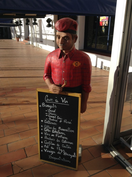 Sign board for a restaurant, a Catalan fisherman