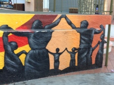 Mural of the Sardane, a traditional Catalan dance