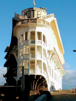 Hotel Belvedere, a boat shaped hotel built in 1928