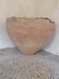 The Dolium, Roman origins, was discovered in the wine cellar of the abbey. Originally used to hold cereals and wines.