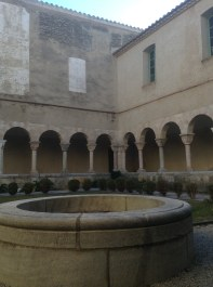 Well and colonnades of the cloister