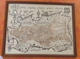 An old map in the tourist office